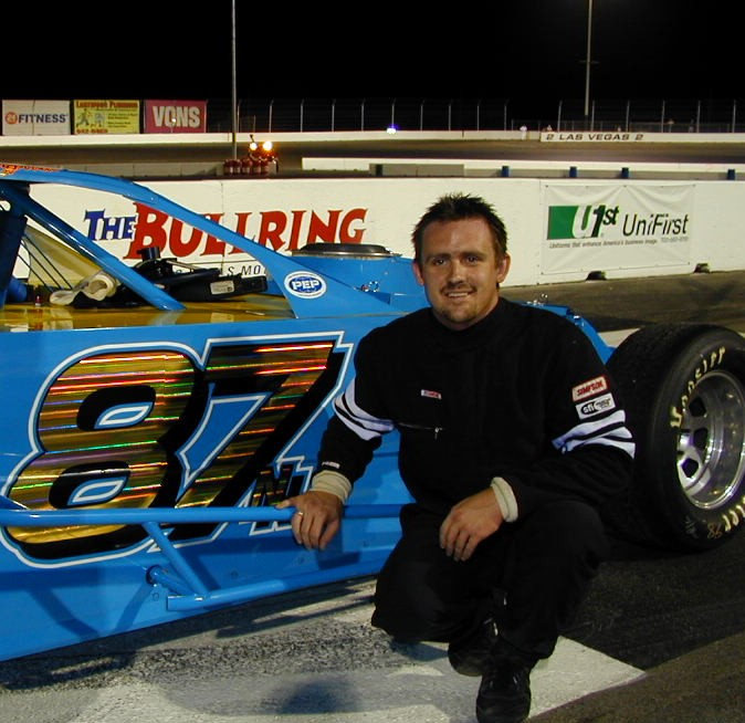 Dan Fitzgerald #87 Grand American modified.Currently 1st in Point standings. photo courtesy of LVMS